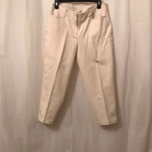 Talbots Curvy 8P Capri pants tan